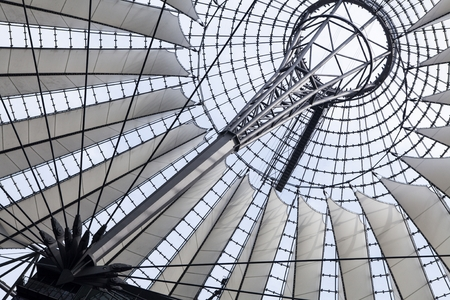 sony: Futuristic roof at Sony Center in Berlin, Germany. Editorial