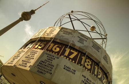 frederick street: Clock located in Alexanderplatz in Berlin, Germany