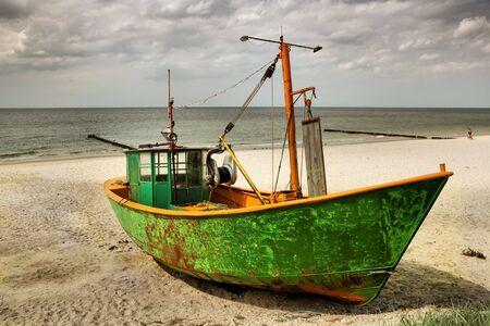 old ship: fishing boat