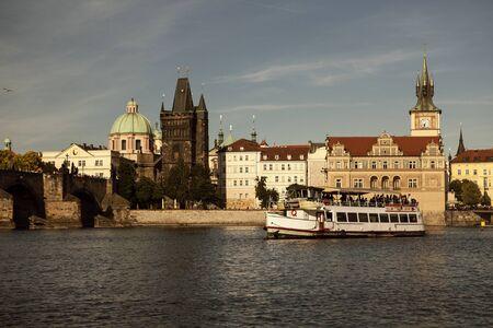 vltava: Vltava river in Prague. Vltava is the longest river within the Czech Republic.