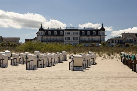 mecklenburg: Ahlbeck at the Baltic Sea on Usedom Island, Mecklenburg- Vorpommern, Germany.