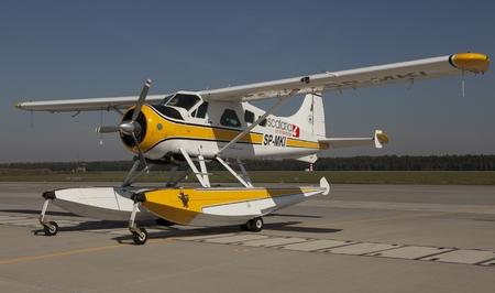 hydroplane: Floatplane Seaplane or static display in Air Base in Poznan