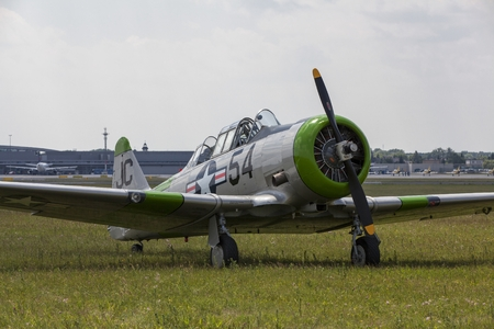 texan: The North American Aviation T-6 Texan is a single-engined advanced trainer aircraft used to train pilots of the USAFF and the RAF during World War II and into the 1970s