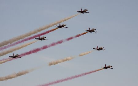 aerobatic: The Turkish Stars are the aerobatic demonstration team of the Turkish Air Force and the national aerobatics team of Turkey.
