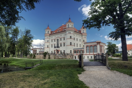 silesia: Historic building of Palace Wojanow. Wojanow is a city in Lower Silesia, south-western Poland