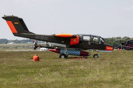 bronco: The North American Rockwell OV-10 Bronco is an American turboprop light attack and observation aircraft.