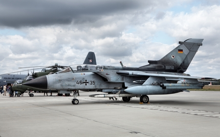 manufactured: The Panavia Tornado is a family of twin-engine, variable-sweep wing combat aircraft. Manufactured by Italy, the UK, and Germany.