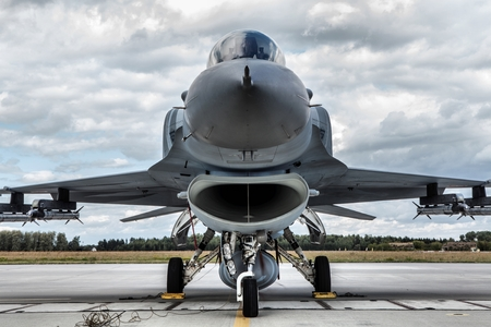 F-16 Fighting Falcon is a single-engine multirole fighter aircraft originally developed by General Dynamics. Polish air force.