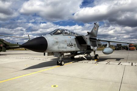 The Panavia Tornado is a family of twin-engine, variable-sweep wing combat aircraft. Manufactured by Italy, the UK, and Germany.
