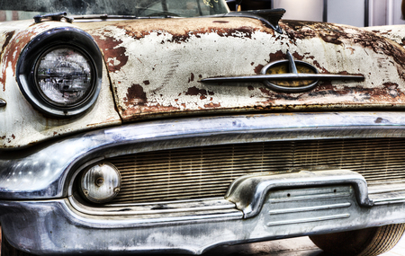 old Amercian car Stock Photo