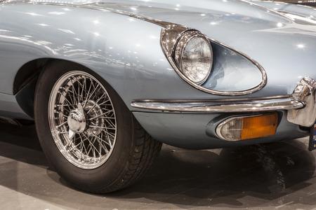 Vintage old british car Editorial