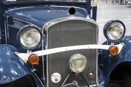 old and vintage car on display at the International Fair Editorial