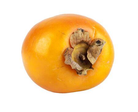 Fresh kaki fruit on a white background