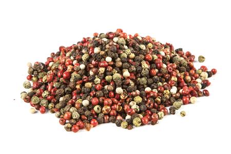 epicurean: Pepper on white background Stock Photo
