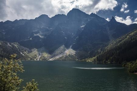 malone: Landscape of Tatra Mountains in Poland Stock Photo