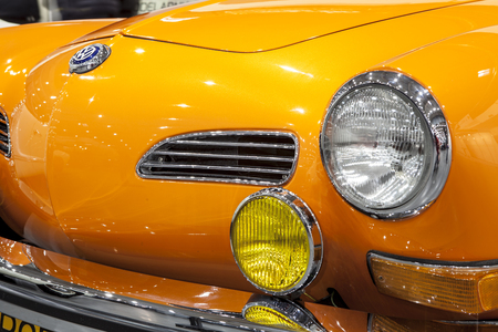 Historic Volkswagen Karmann on display at the International Fair in Poznan during the event Retro Motor Show Editorial