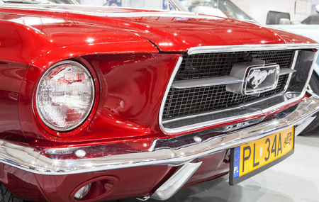 Old Ford Mustang on display at the International Fair in Poznan