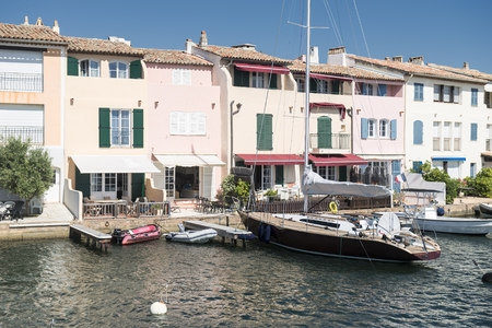 Port and harbor in Saint-Tropez Grimaud on the French Riviera.