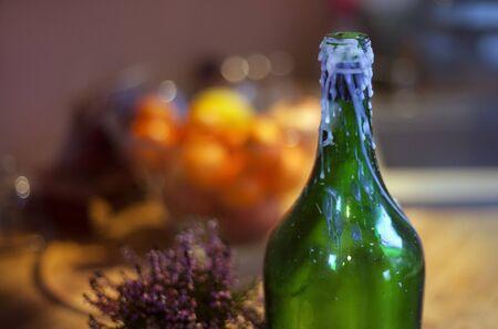 bootle: Green bottle Stock Photo