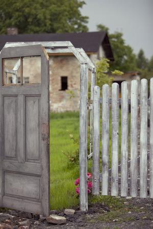 garden gate: Old garden gate