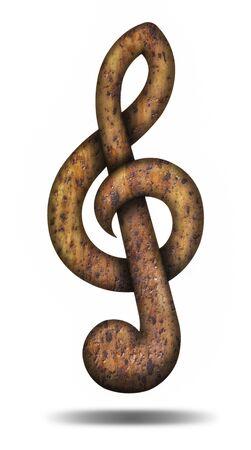 chiave di violino: Rusted violino chiave