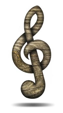chiave di violino: Legno violino chiave