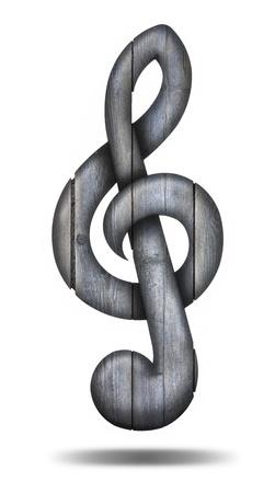 chiave di violino: Violino di legno chiave Archivio Fotografico