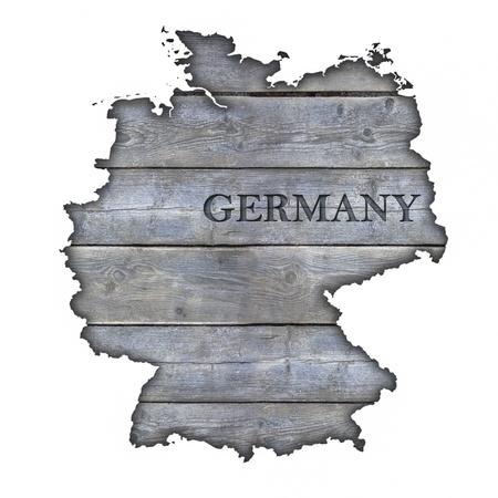 Germany Map - Wood photo