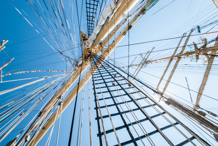 Mast of a ship on a sunny day