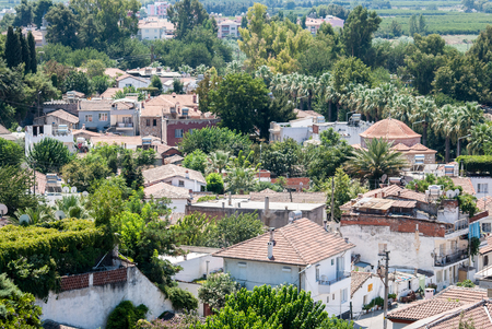 Aerial view of selcuk city streets