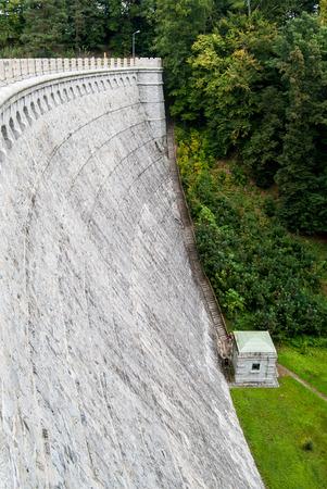 Water dam, Lesnianskie lake, Poland