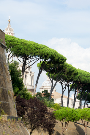 View of the walls of Vatican Stock Photo