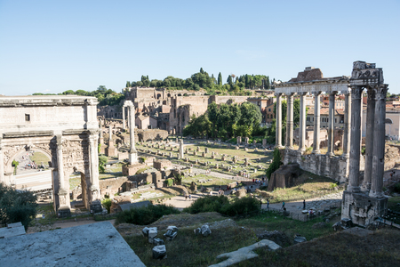 archaeological: View of Foro Romano in rome Stock Photo