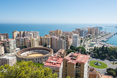Malaga city panorama, as seen form Gibralfaro castle Editorial