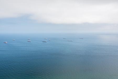 Seascape panorama, blue sky