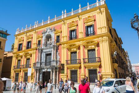 MALAGA, SPAIN - September 17, 2017 - Palacio episcopal