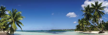 panoramatic: beach, Dominican Republic