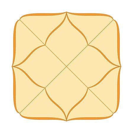 Vedic astrology birth chart template in northern indian diamond style. Jyothish calculator form. Hindu astrological horoscope maps. Lagna diagram in the shape of a yantra. Vektoros illusztráció