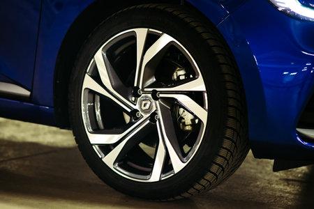 New Car Renault Clio E-TECH 140 HYBRID RS, 2020. Selective focus. High quality photo