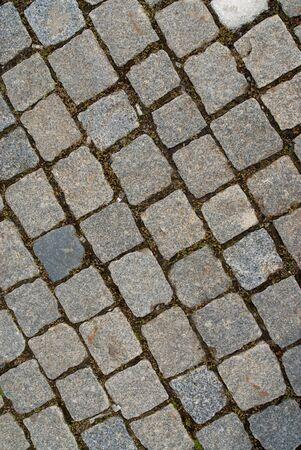 Gepflasterten Straße Hintergrund