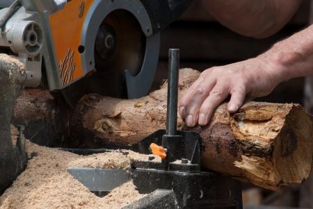 Kreissäge Schneiden von Holz