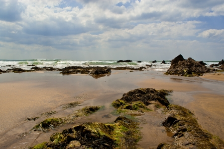 incoming: Incoming tide seascape