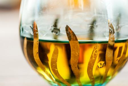Glas Brandy Schuss hautnah