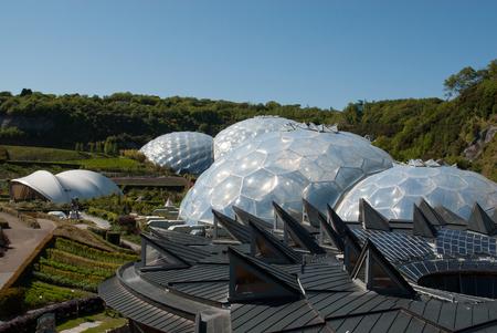 Eden Project Biome mit dem Kern im Vordergrund