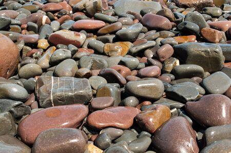 Kieselsteine ??am Strand Hintergrund