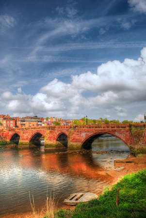 chester: Photography of Old Dee bridge, in Chester, Cheshire, UK