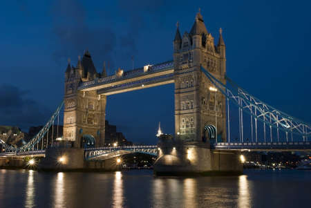 Night photography of London Bridge, UK  photo
