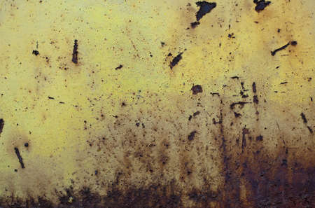 corroded: Photography of an yellow corroded metal  Stock Photo