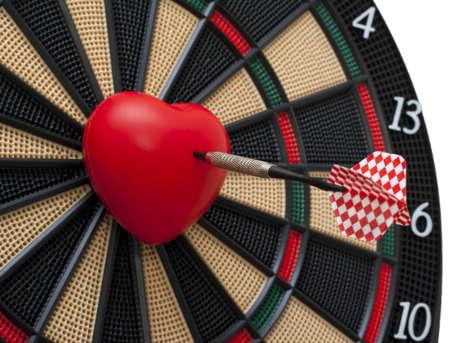 love target: Shot of dart in a heart