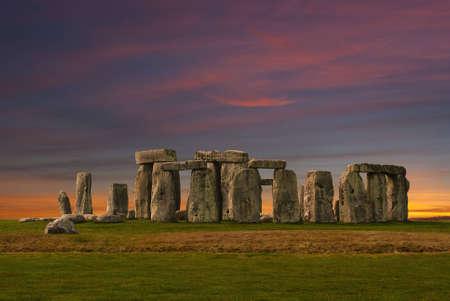 stonehenge: Photography of Stonehenge at the sunset